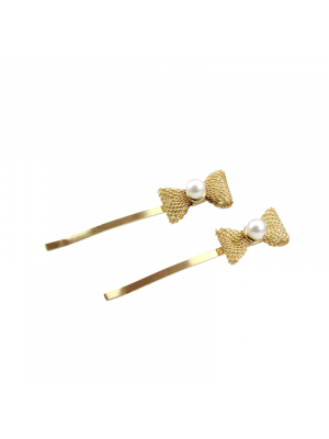 Chic Gold Bow