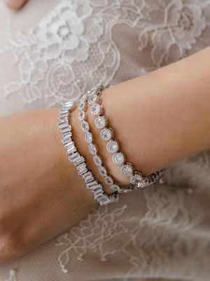 Cute Crystal Bracelet | Rhodium Silver