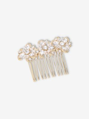 Flower Haircomb | Gold Plated
