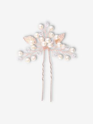 Sweet Leaves Hairpin | Rose Gold