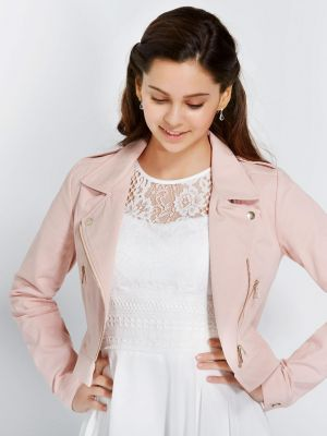 Blush Biker Jacket
