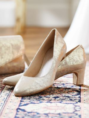 Palma | Champagne Gold Suede